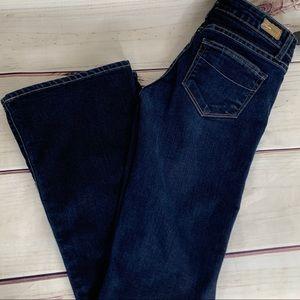 PAIGE Laurel Canyon Blue Boot Cut Low Rise Jeans
